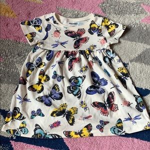 Cap sleeve butterfly tee shirt dress